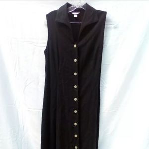 Christopher & Banks Sleeveless Button Up Maxi Dres